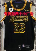 LA Lakers James #23 Black Snake NBA Jerseys Hot Pressed(Have 2+Wish)有胸前小广告
