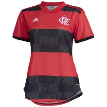 2021/22 Flamengo Red And Black Home Women Soccer Jersey