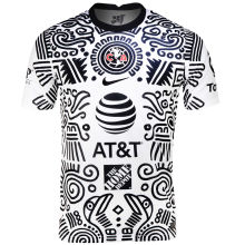 2021 Club America White Black Third Fans Soccer Jersey