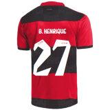 B.HENRIQUE #27 Flamengo 1:1 Quality Home Fans Soccer Jersey 2021/22