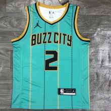 2021 Hornets Jordan BALL #2 Green NBA Jerseys Hot Pressed