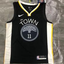 Warriors THOMPSON #11 Black NBA Jerseys Hot Pressed
