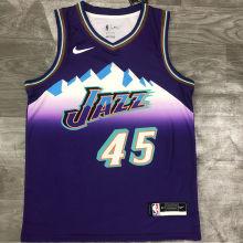 Jazz MITCHELL #45 Snow Mountain Edition Purple NBA Jerseys Hot Pressed