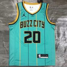 2021 Hornets Jordan HAYWARO #20 Green NBA Jerseys Hot Pressed