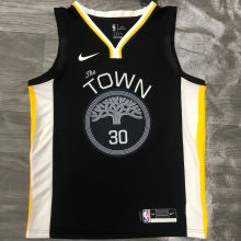 Warriors CURRY #30 Black NBA Jerseys Hot Pressed