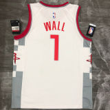 2021 Rockets WALL #1 City White NBA Jerseys Hot Pressed