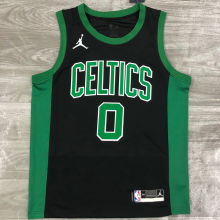2021 Celtics Jordan TATUM #0 Green NBA Jerseys Hot Pressed