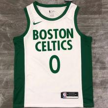 2021 Celtics TATUM #0 White NBA Jerseys Hot Pressed