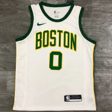 Celtics TATUM #0 White NBA Jerseys Hot Pressed