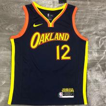 2021 Warriors OUBRE JR. #12 Royal Blue NBA Jerseys Hot Pressed