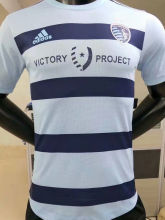 2021 Kansas City Blue White Player Version Soccer Jersey