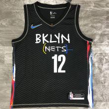 2021 Nets HARRIS #12 City Edition Black NBA Jerseys Hot Pressed