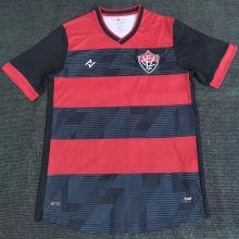 2021 Vitória Home Red Black Fans Soccer Jersey