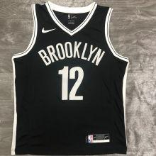 Nets HARRIS #12 Black NBA Jerseys Hot Pressed