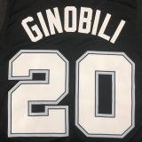 2021 Spurs GINOBILI #20 City Edition Black NBA Jerseys Hot Pressed