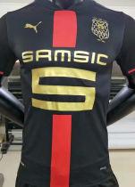 2021 Rennais 120th Black Player Version Soccer Jersey