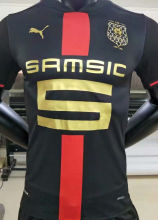 2021 Rennais 120th Black Player Version Soccer Jersey
