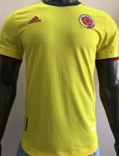 2021 Colombia Home Yellow Player Soccer Jersey