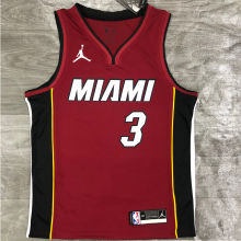 2021 Miami Heat Jordan WADE #3 Jujube NBA Jerseys Hot Pressed