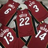 2021 Miami Heat Jordan BUTLER #22 Jujube NBA Jerseys Hot Pressed
