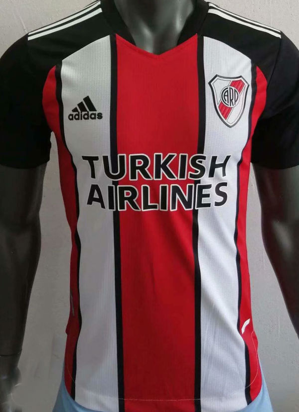2021 River Plate Third Red Black Player Soccer Jerseys