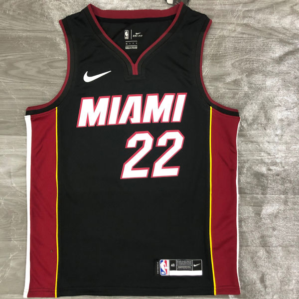 2021 Miami Heat BUTLER #22 Black NBA Jerseys Hot Pressed