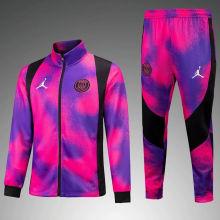 2021 PSG Pink Purple Jacket Tracksuit