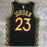 2021 Bulls Jordan #23 City Edition Black NBA Jerseys Hot Pressed