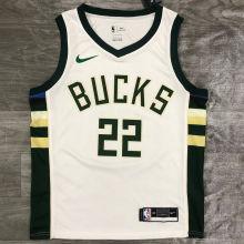 2021 Bucks MIDDLETON #22 White NBA Jerseys Hot Pressed