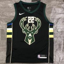 2021 Bucks MIODLETON # 22 Black NBA Jerseys Hot Pressed