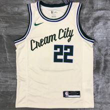 2021 Bucks MIODLETON # 22 Beige NBA Jerseys Hot Pressed