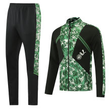 2021/22 Man City Black And Green Jacket Tracksuit