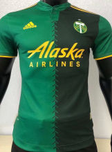 2021 Portland Home Green Player Version Soccer Jersey