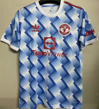 2021/22 M Utd Away White Blue Fans Soccer Jersey