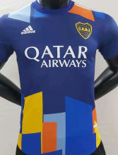 2021 Boca Third Blue Yellow Player Soccer Jerseys