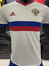 2020 Euro Russia Away White Player Soccer Jersey