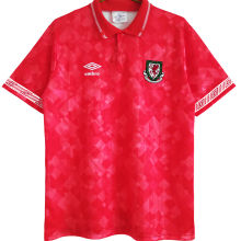 1990/92 Wales Home Red Retro Soccer Jersey