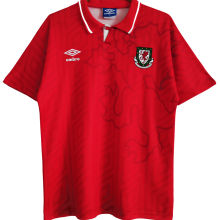1992/94 Wales Home Red Retro Soccer Jersey