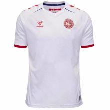 2020 Euro Denmark Away White Fans Soccer Jersey