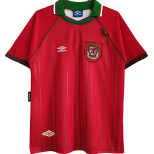 1994/96 Wales Home Red Retro Soccer Jersey