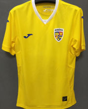 2021/22 Romania Home Yellow Fans Soccer Jersey