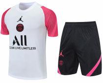 2021/22 PSG White Pink Short Training Jersey(A Set)