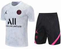 2021/22 PSG White Short Training Jersey(A Set)