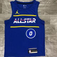 2021 ALL STAR TATUM # 0 JD Blue NBA Jerseys Hot Pressed