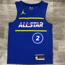 2021 ALL STAR LEONARD #  2 JD Blue NBA Jerseys Hot Pressed