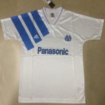 1991/92 Marseille Home White Retro Soccer Jersey