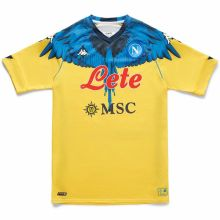 2021 Napoli Marcelo Burlon Limited Edition Yellow Fans Soccer Jersey