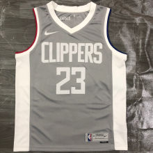 2021 Clippers WILLIAMS #23 EARNED Edition Grey NBA Jerseys Hot Pressed