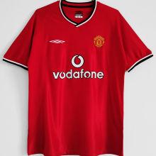 2000/02 M Utd Home Red Retro Soccer Jersey