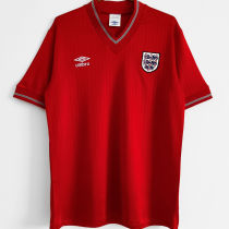 1984/1987 England Away Red Retro Soccer Jersey
